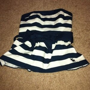 New Abercrombie & Fitch stripe strapless top